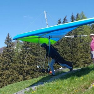 Første nedflyvning fra Emberger Alm, Greifenburg